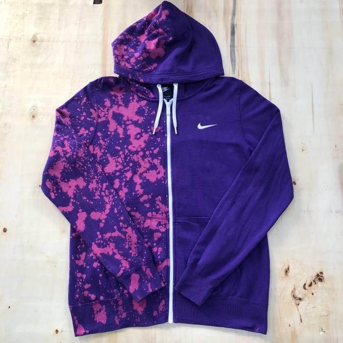 Nike Custom Bleached Nike Zip up Hoodie !! Size m - Sweatshirts ... 6fff86a6c5e7