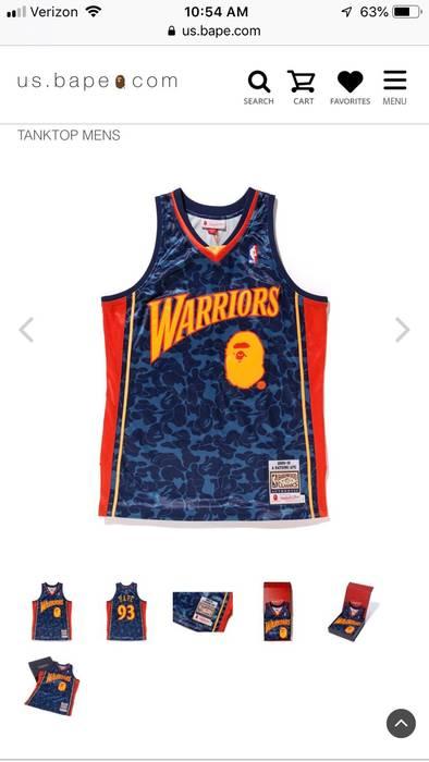 Bape Golden State Warriors A Bathing Ape Authentic Jersey Size US XXL   EU  58   5f66cb13c