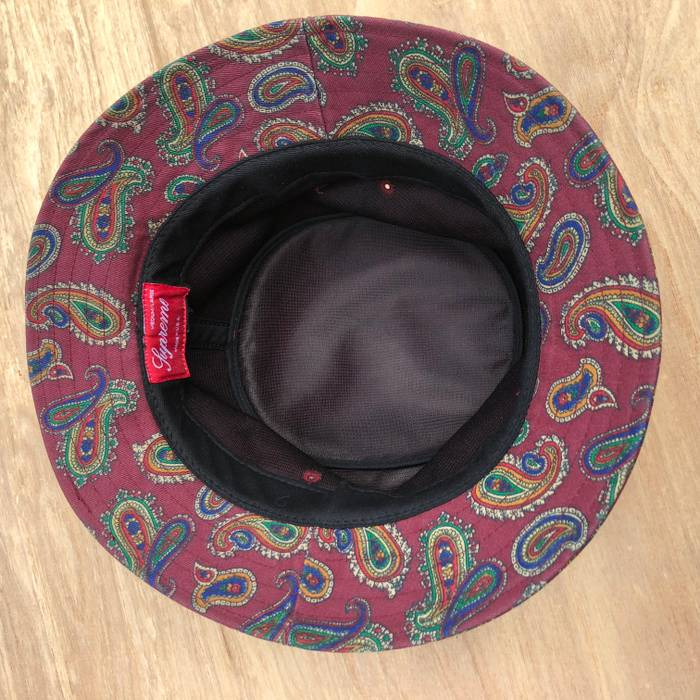 70be7fd5b7b Supreme Paisley Crusher Bucket Hat Burgundy Red FW13 Size one size ...