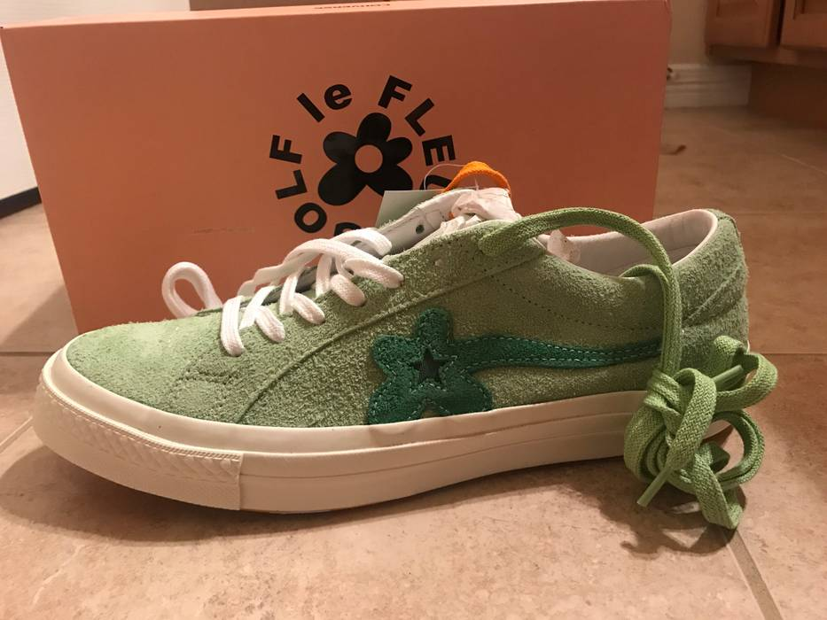 1307e666a4cb Converse Golf Le Fleur x Converse One Star Suede in Jade Lime and Mint  Green (