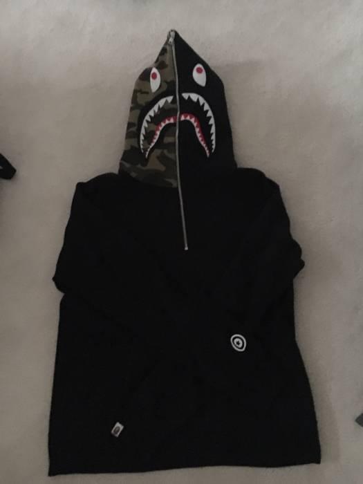 9c7cc191fcea Bape Bape Shark Hoodie Half-Zip XL Black Size xl - Sweatshirts ...