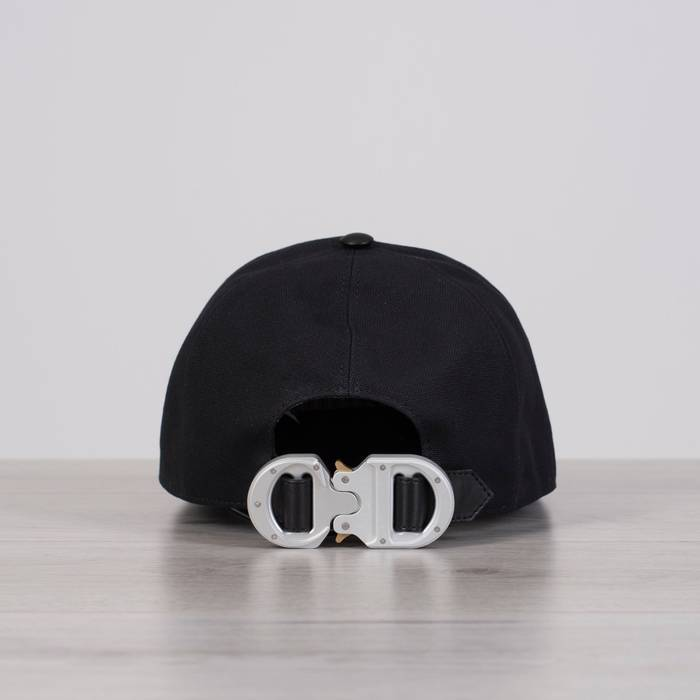 Dior x ALYX Cotton   Leather Baseball Cap With CD Buckle Size ONE SIZE 676f61417cc