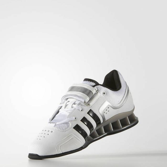 hot sale online 140f4 960e6 Adidas Adidas AdiPower Weightlifting Weight Powerlift Trainer Shoes White  M25733 Size US 8.5  EU 41