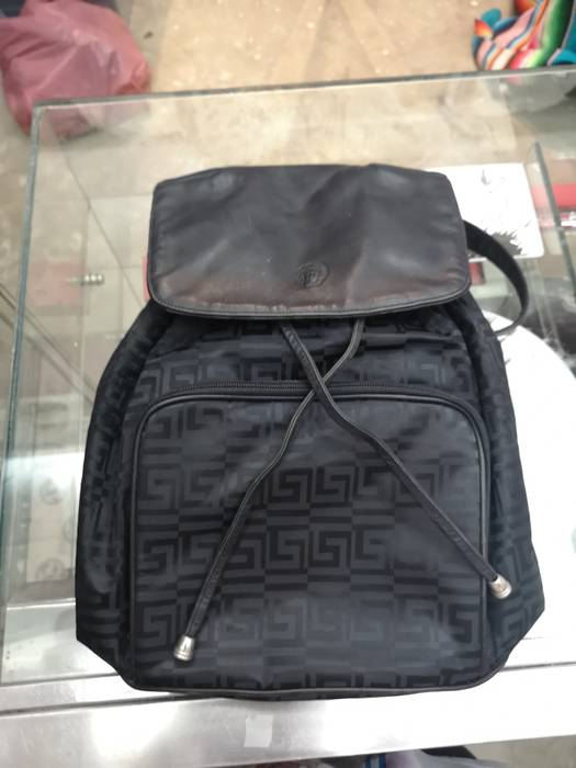 Versace GIANNI VERSACE backpack rucksack black bag hand pack vintage Size  ONE SIZE - 3 a4e440f59df14