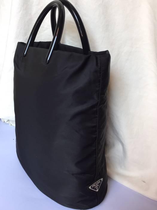 f7256d7738 Prada Prada Nylon Tote Bag Plastic Handle Col Black Size one size ...