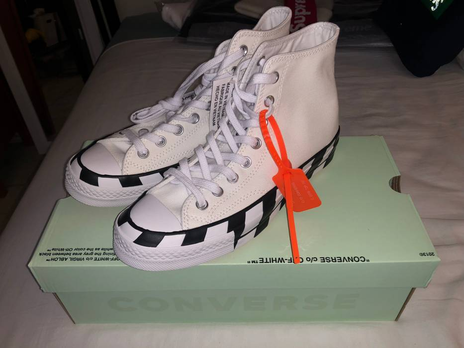 Off-White Converse x Off-White Chuck 70 High Top size men s 7 ... 90c510c4b