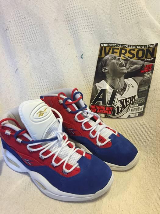 95c263a98cb Reebok. Mens size 12 Iverson Question Mid LE Banner Retirement Basketball  Sneaker
