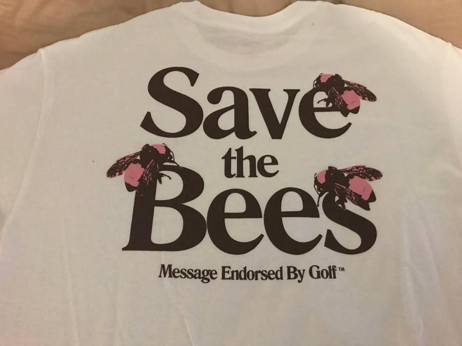 b989ed216477 Golf Wang SAVE THE BEES TYLER THE CREATOR T-SHIRT COACHELLA Size l ...