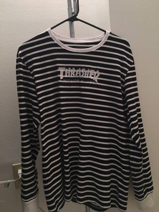 Thrasher Striped Huf x Thrasher Long Sleeve Tee Size l - Long Sleeve ... ba10d7aab