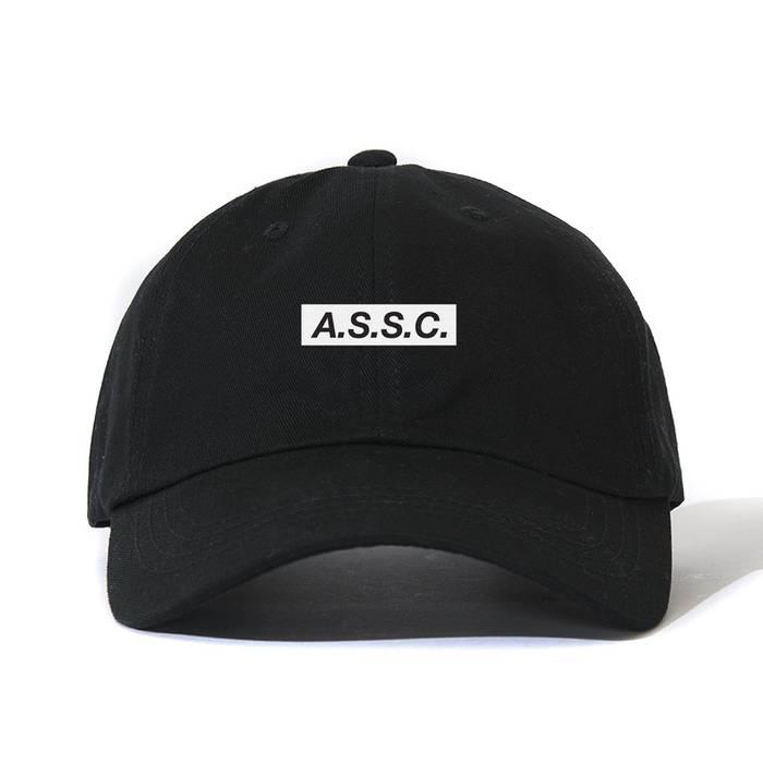Antisocial Social Club AntiSocial Social Club ASSC What Sup Black Cap Box  logo Size ONE SIZE 63bb28640402