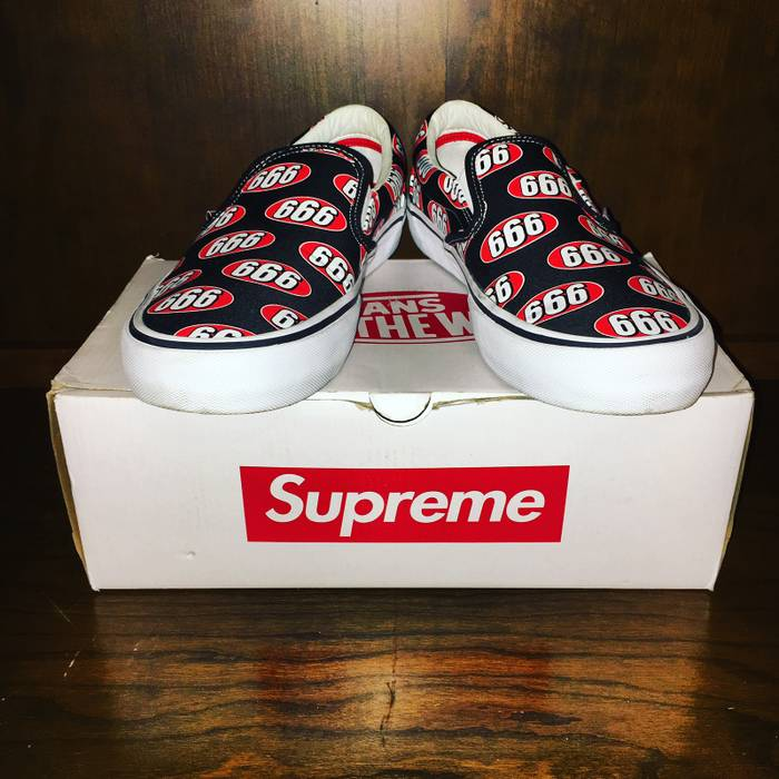 90933f999d Supreme 666 Slip Ons Size 12 - Slip Ons for Sale - Grailed
