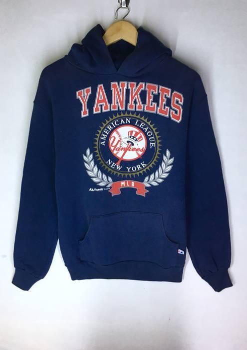 Vintage Rare Design Vintage New York Yankees Big Logo Hoodie Sweatshirt 90s  Size US L   15ded482d96
