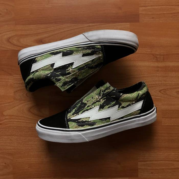 e194914e0f8024 Revenge X Storm. Revenge X Storm Ian Connor Khaki Camo Low Top Old Skool  Vans Lightning. Size  US 9 ...