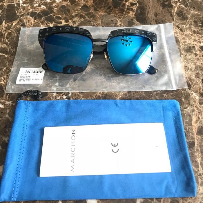 1ed00686de MCM  325 MCM Metal Aviator All-Over Logo Mirrored Lens Sunglasses ...