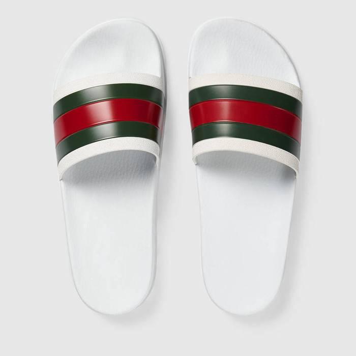 c2f5b1b8b5d Gucci Gucci Pursuit 72 White Slides Size 9 - Sandals for Sale - Grailed