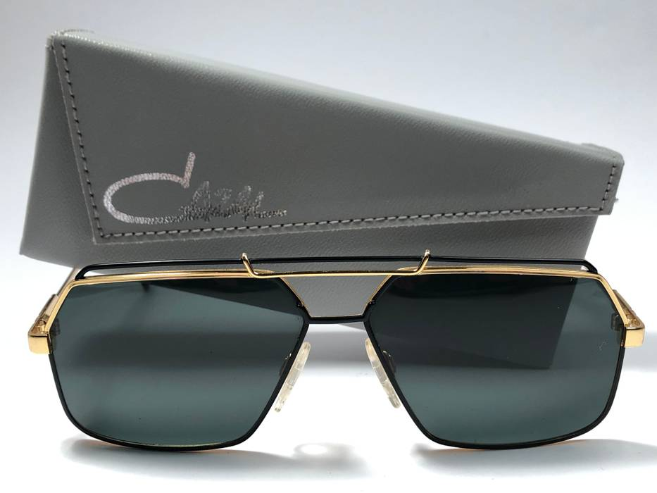 4d4618556d Cazal VINTAGE CAZAL 734 GOLD AND BLACK FRAME SUNGLASSES MADE IN ...