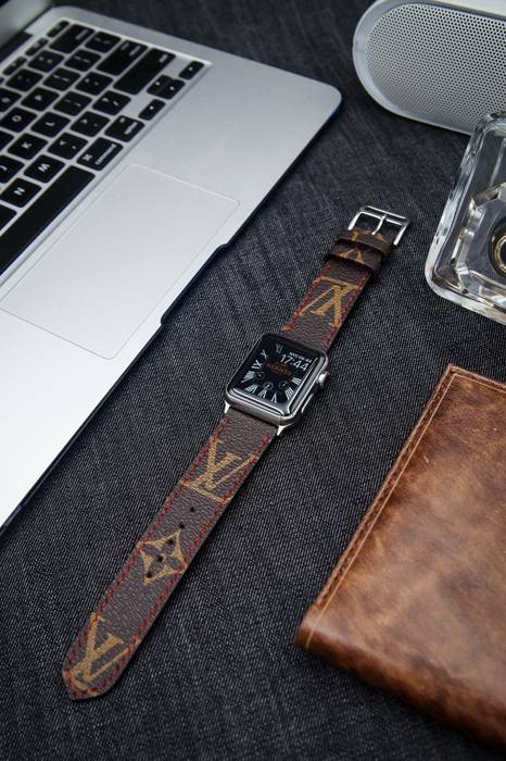 749ab0916ef6 Handmade LV Apple Watch Band Louis Vuitton iwatch Band LV