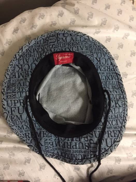 2b66eacce85 Supreme Denim Fuck Em All Boonie Size one size - Hats for Sale - Grailed