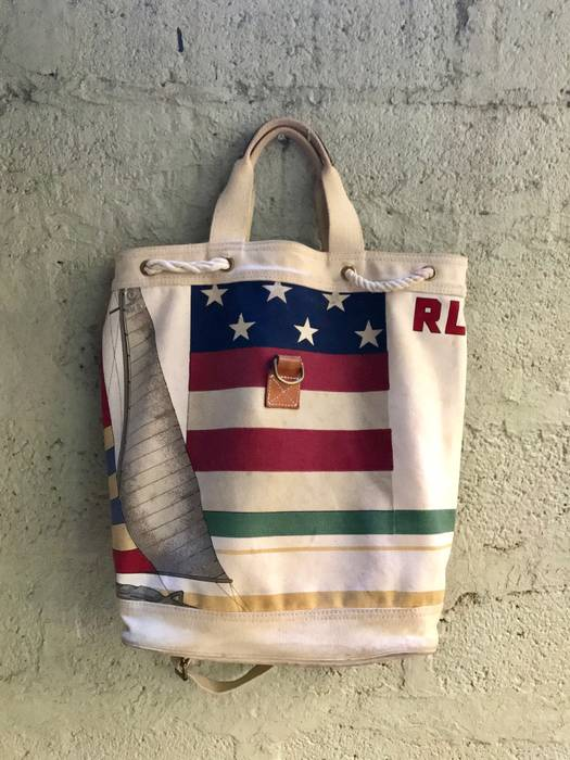 06bafc068f Polo Ralph Lauren OG 1993 CP93 Bag Grail Very Rare CP RL Snow Beach Size ONE