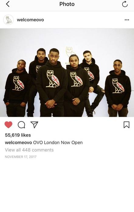 66afd65ba82193 Octobers Very Own Drake OVO UK Flag Union Jack London Opening Flagship Store  Opening Exclusive Gold