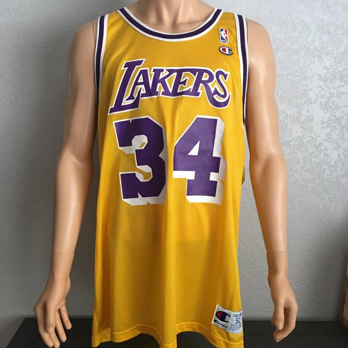 32e65a5f5fef Champion Vintage Shaquille O Neal LA Lakers Champion Jersey Size xxl ...