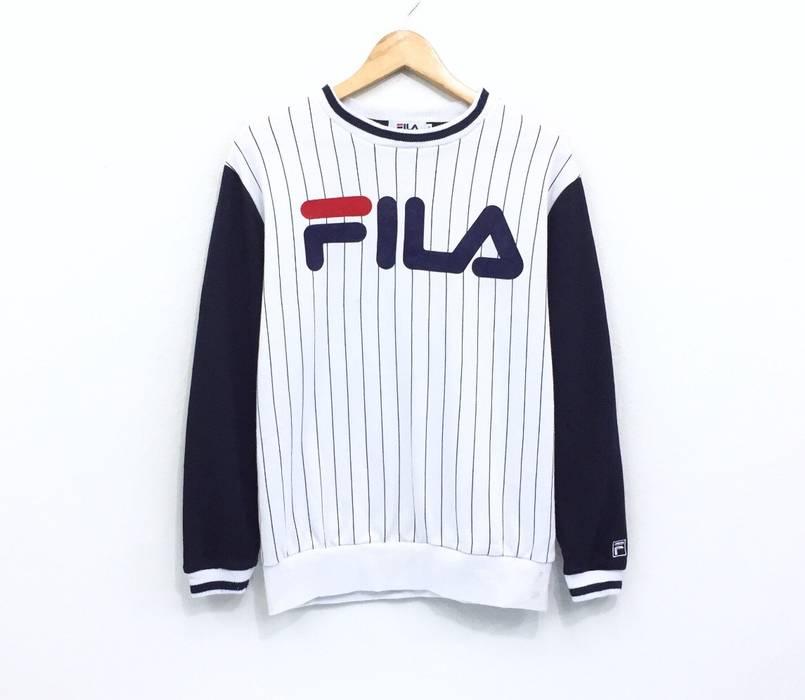 bc6d455b6483 Fila Rare Fila Sweatshirt Big Logo Stripes 3 Colours Crew Neck Pullover  Jumper Sweater Sportwear Italia