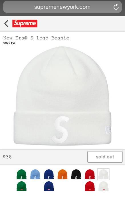 0bd0df8f810 Supreme Supreme New Era S Logo Beanie White Size one size - Hats for ...