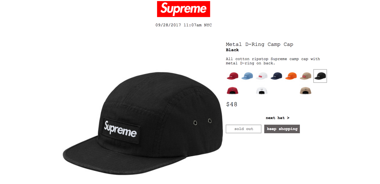 a5e0f336d0e Supreme RETAIL Brand New Supreme hat sold out Size one size - Hats ...