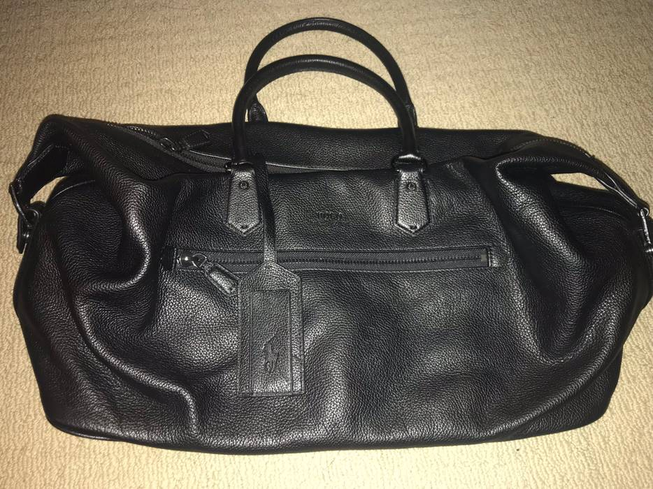 aca4a098b242 Polo Ralph Lauren Pebbled Leather Duffel Bag Size one size - Bags ...
