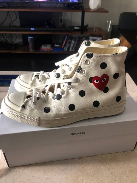 7fdf1f21ee21 Comme Des Garcons Play Chuck Taylor  70s Canvas Polka Dot Sneakers ...
