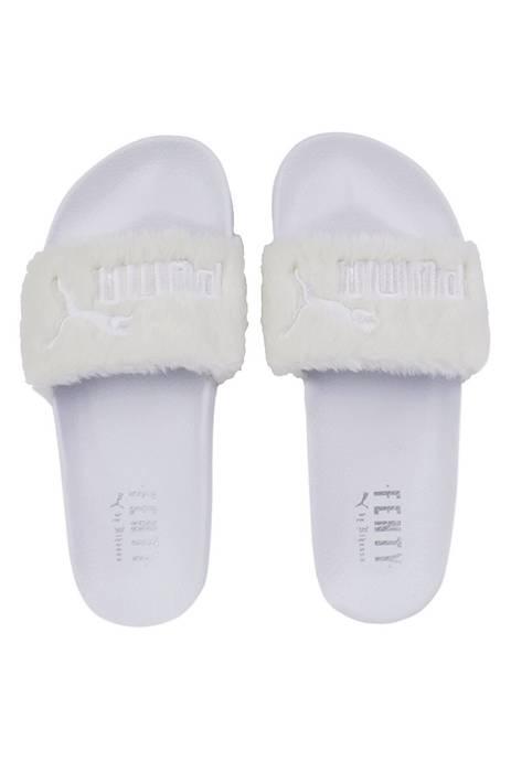 Fur Slide By Fenty Womens Sandals Fenty Slides White Size US 7.5   EU 40- 514cde853