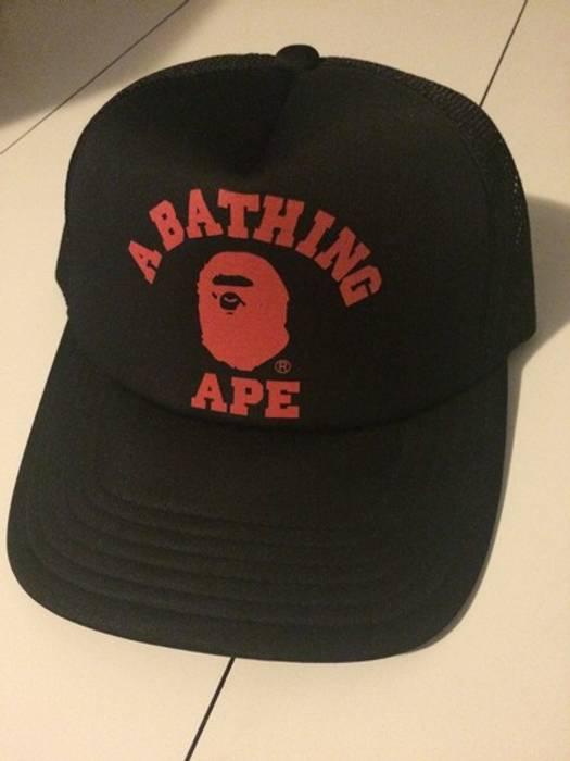 Bape A BATHING APE TRUCKER HAT Size one size - Hats for Sale - Grailed b057573451e
