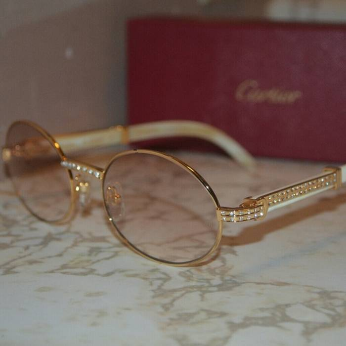 220026b437 Cartier Custom Vintage Diamond Cartier Buffalo Sunglasses Size ONE SIZE