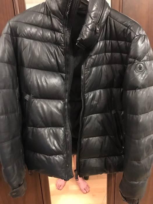 145502ba7d76 Moncler Leather Jacket Gaberic Size l - Heavy Coats for Sale - Grailed