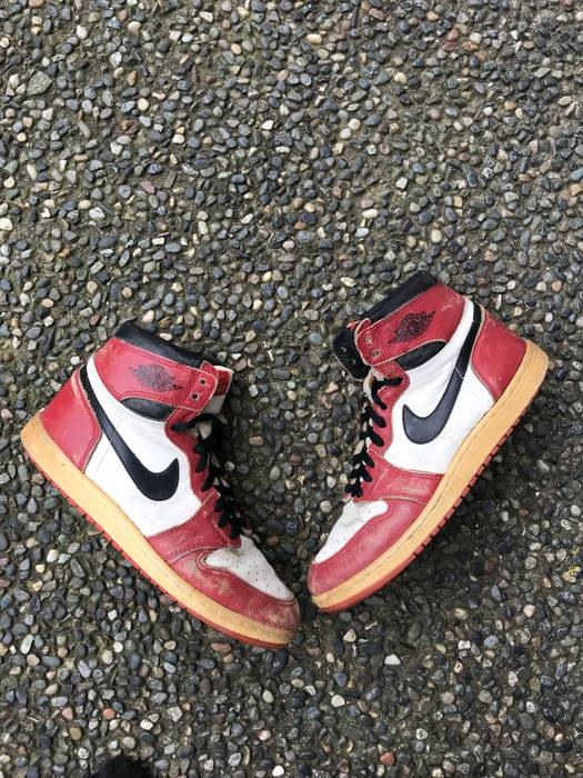 "4a964a0304f762 Nike 1985 Jordan 1 Chicago ""85"" Size 10 - Hi-Top Sneakers for Sale ..."