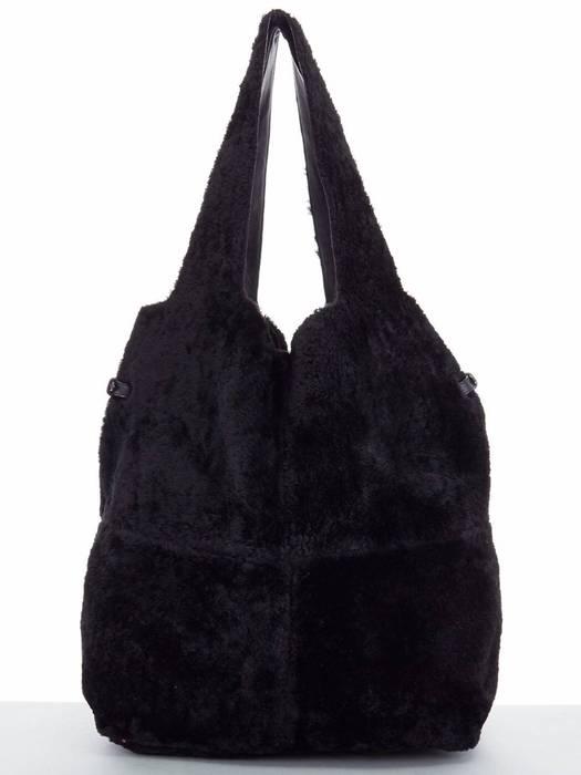 836ef950cb Givenchy GIVENCHY TISCI black reversible leather shearling fur oversize  hobo shoulder bag Size ONE SIZE