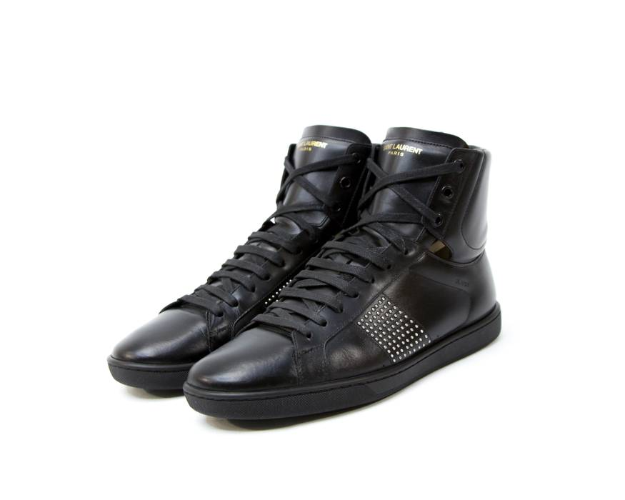 dc9ae91f71f4c Ysl Pour Homme YVES SAINT LAURENT YSL SL 01H High Sneakers Black Size US 8