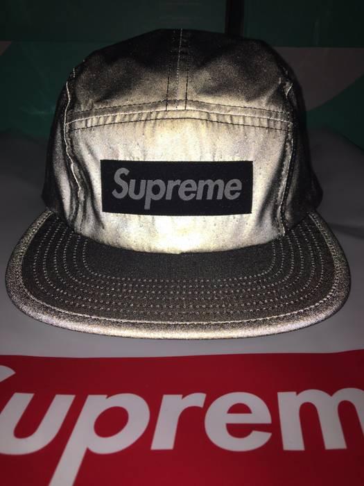 Supreme Supreme Black Reflective Camp Cap SS17 Size one size - Hats ... a5338a31b4a