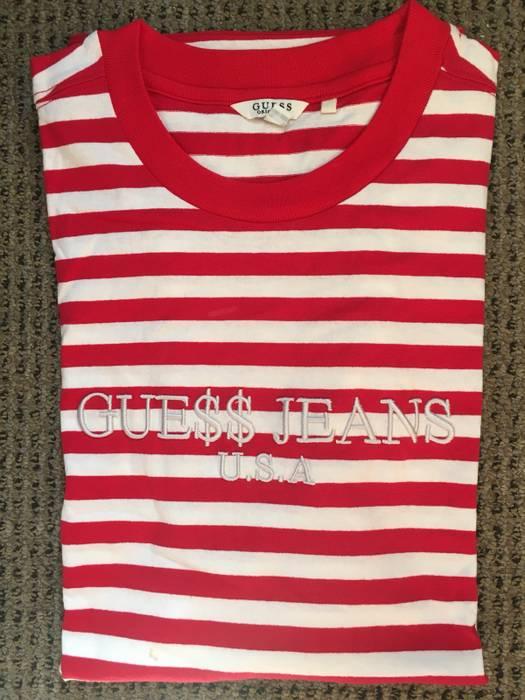 e8f3402f9e Guess Rare Colorway Jeans Asap Rocky Red White Striped Tee