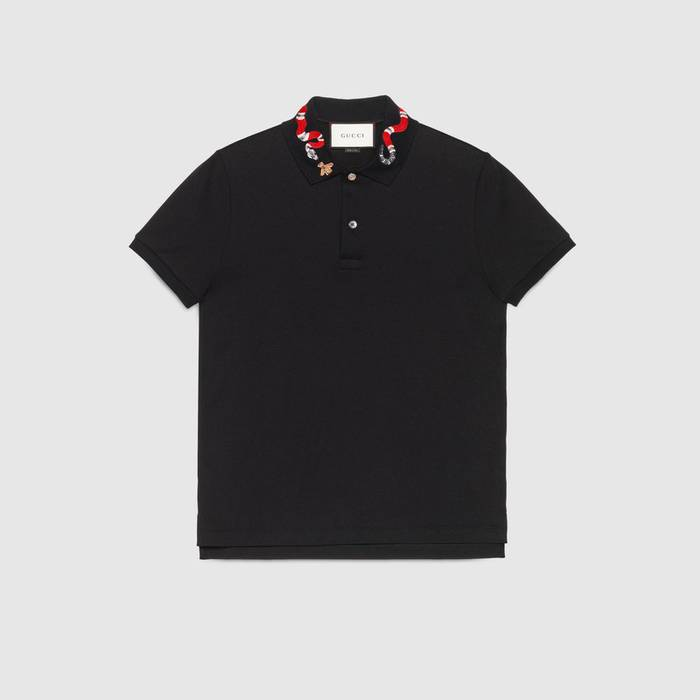 5d342d2b737 Gucci Black polo with Snake embroidery Size m - Polos for Sale - Grailed