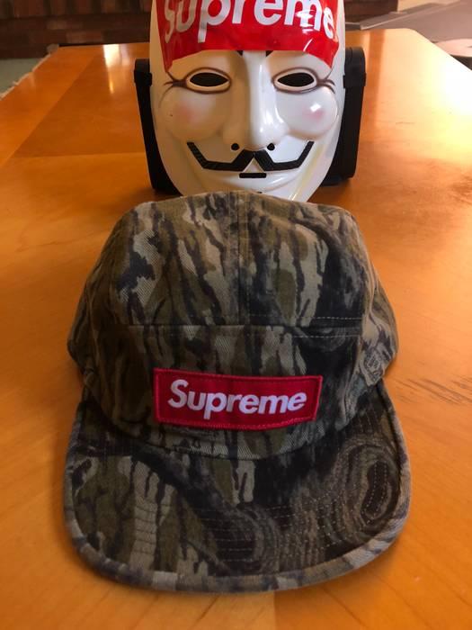 544fb0df319 Supreme Mossy Oak Camo Box Logo Military Camp Cap Hat Size one size ...