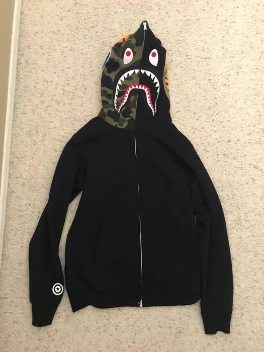 789277e4033f Bape Bape Black Shark Hoodie Size xl - Sweatshirts   Hoodies for ...
