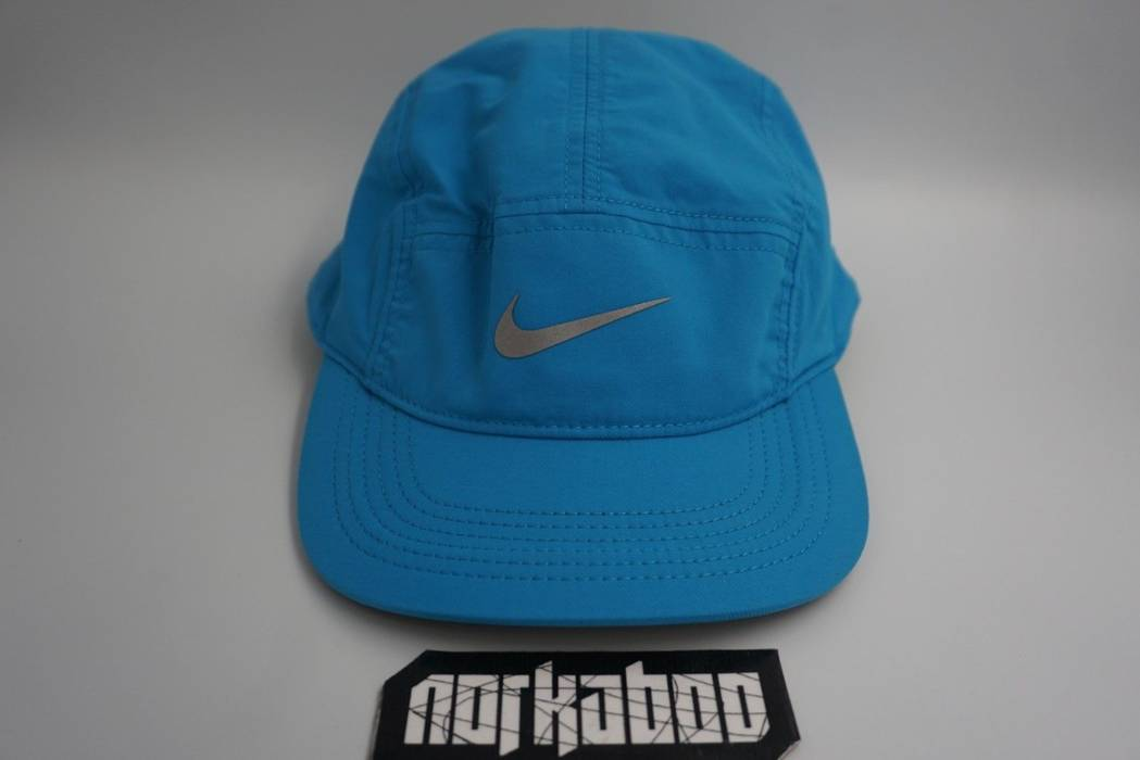Nike Nike Run AW84 Unisex 5 Panel Running Cap Hat 3M Light Blue ... 9b58caa8ce8