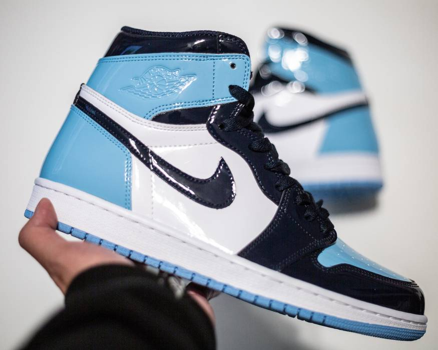 3b6d993d234a Nike Nike Jordan 1 UNC Patent Leather Size 9.5 - Hi-Top Sneakers for ...