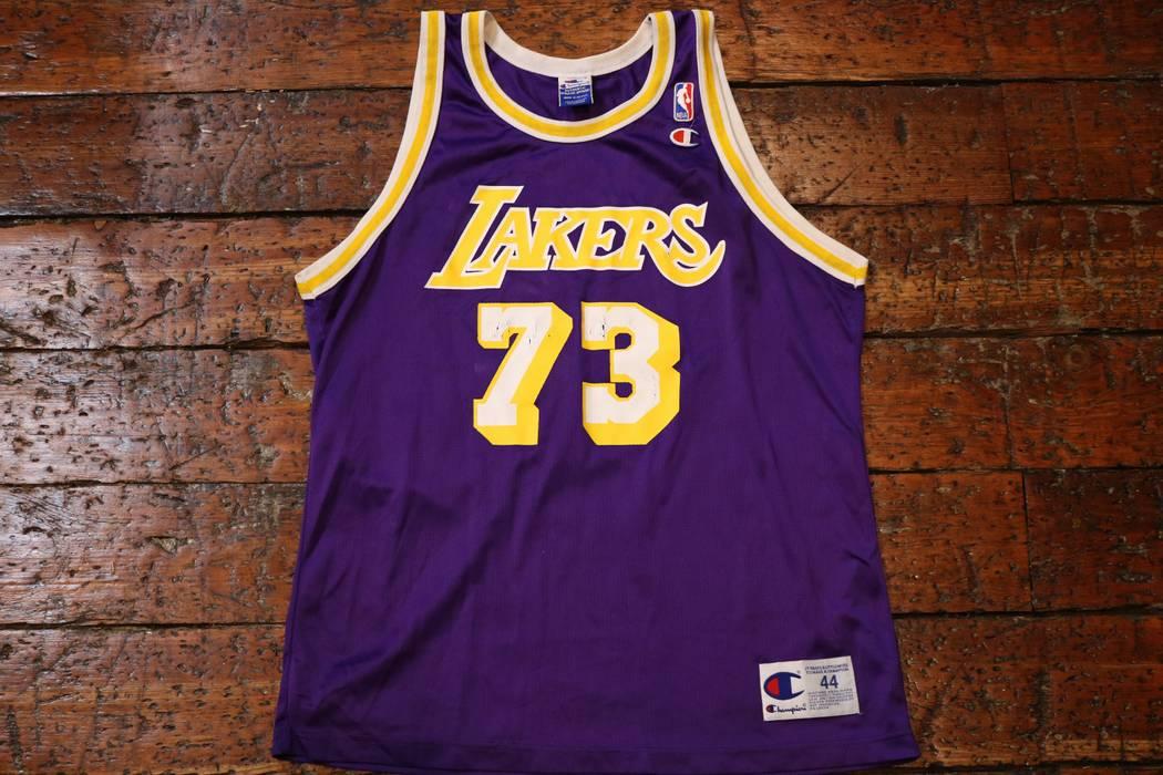 806980e43721 Champion Dennis Rodman Jersey Size l - Jerseys for Sale - Grailed