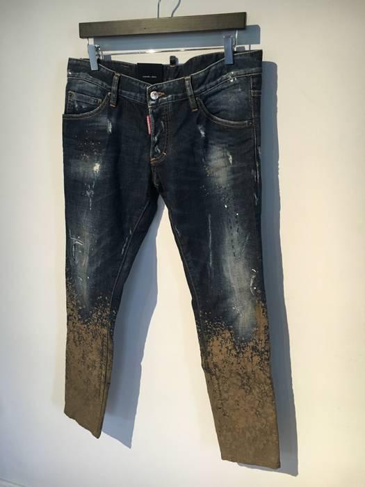 Dsquared2 Dsquared2 Blue Icon Jeans with Mud details Size 34 - Denim ... a18c06fb7d6