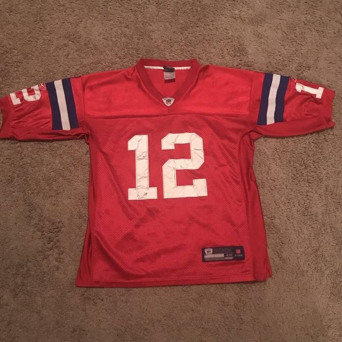 Reebok Vtg Tom Brady New England Patriots Reebok Jersey sz 48 Size m ... cf7fdc779
