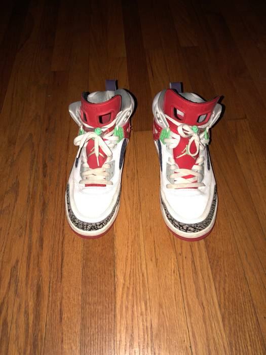 "893365ccbe929e Jordan Brand Jordan Spizike ""White Poison Green"" Size 12 - Hi-Top ..."