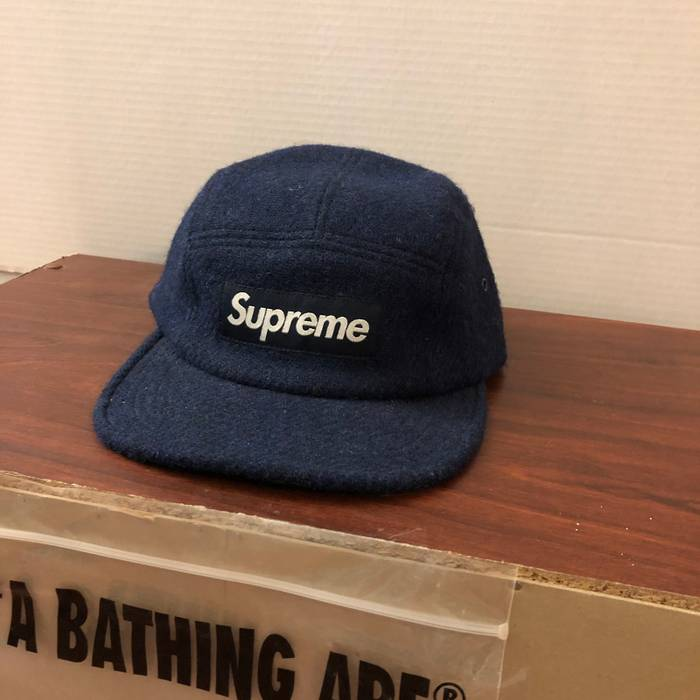 a07baddceec Supreme Navy Wool Supreme Hat Size one size - Hats for Sale - Grailed