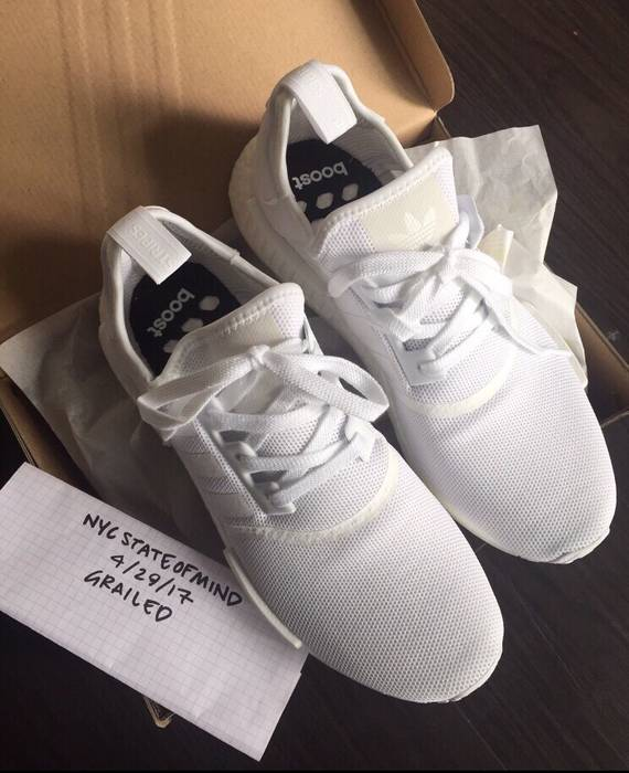 02790742b Adidas Adidas NMD R1 White AUTHENTIC NEW BA7245 Deadstock Size US 9   EU 42